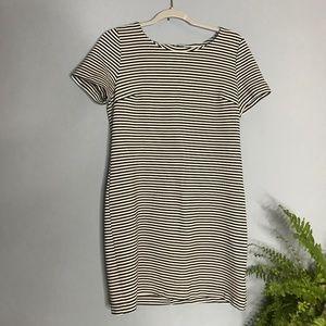 Splendid Dresses - Splendid Striped Black & White Short Shift Dress
